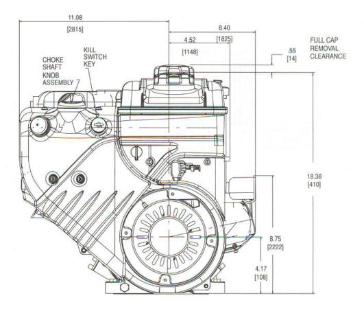 20F400 Series Line Drawing mounting