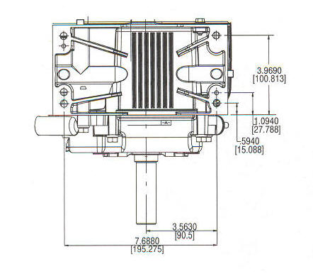 210400 Series Line Drawing mounting