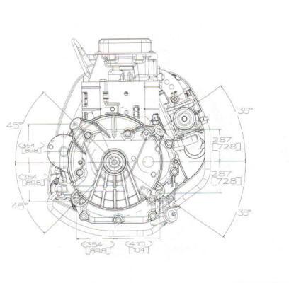 21B900 Series Line Drawing mounting