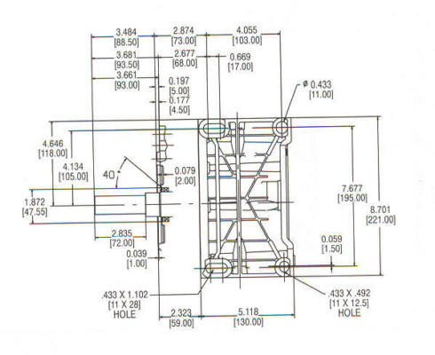 235400 Series Line Drawing mounting