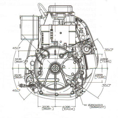 small engine suppliers briggs stratton 17 5 hp intek model 31g700 series line drawing mounting