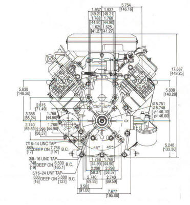 381400 Series Line Drawing mounting