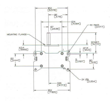 50000 Series Line Drawing Mounting
