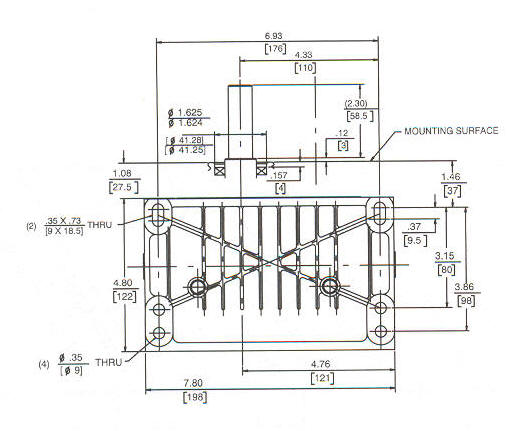 86400 Line Drawing Mounting