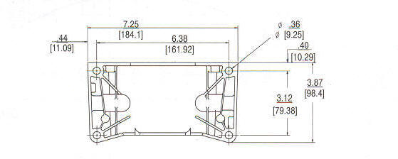 91200 Series Line Drawing mounting
