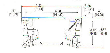 93400 Series Line Drawing mounting