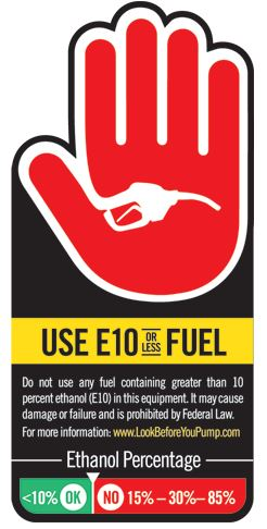 Use E10 or Less Fuel
