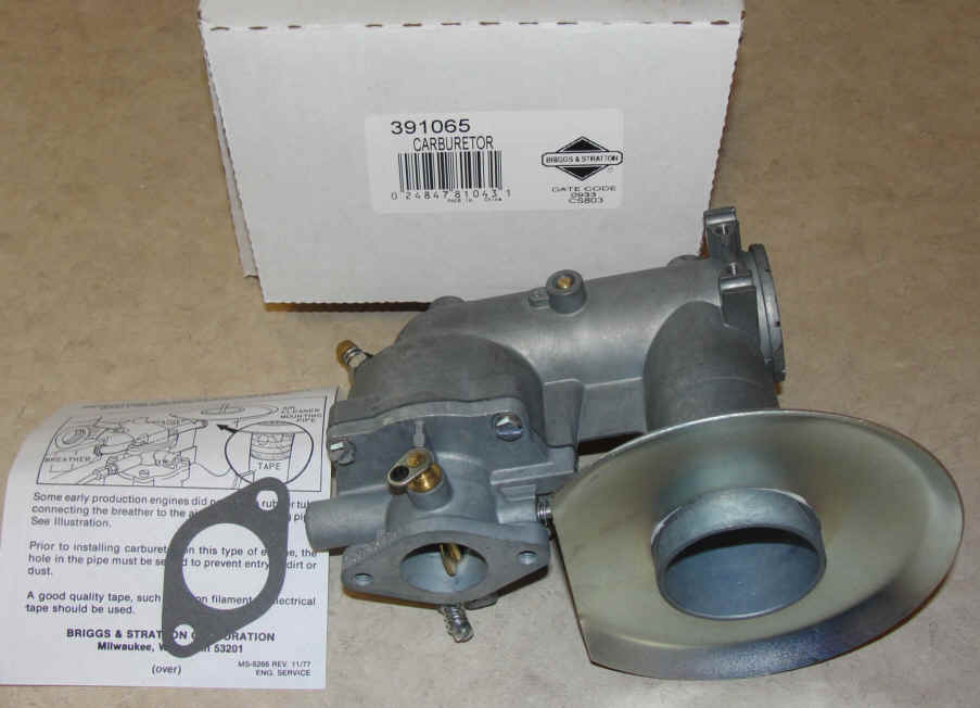 Briggs Stratton Carburetor Part No. 391065