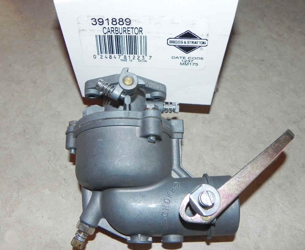 Briggs Stratton Carburetor Part No. 391889