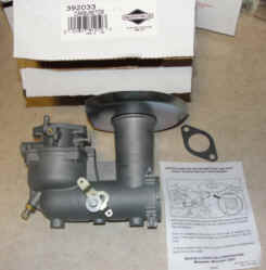 Briggs Stratton Carburetor Part No. 392033