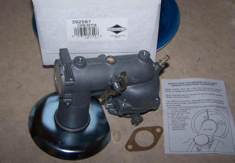 Briggs Stratton Carburetor Part No. 392587