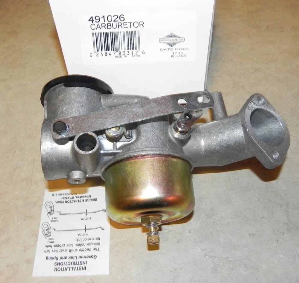 Briggs Stratton Carburetor Part No. 491026