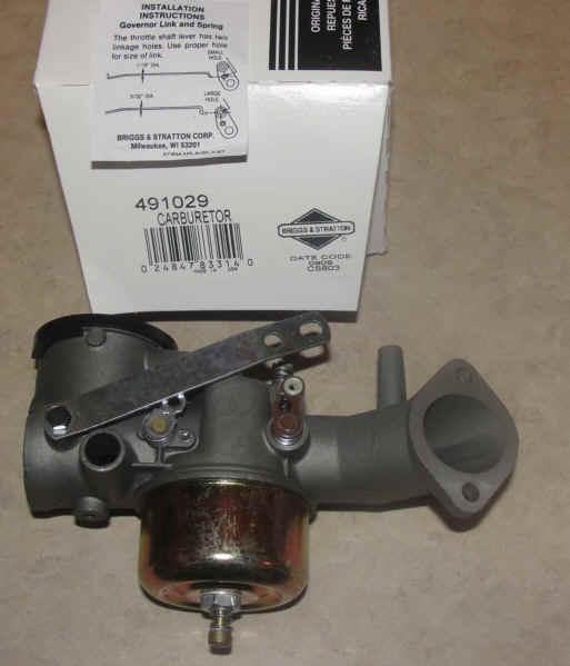 Briggs Stratton Carburetor Part No. 491029