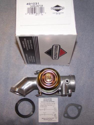 Briggs Stratton Carburetor Part No. 491031