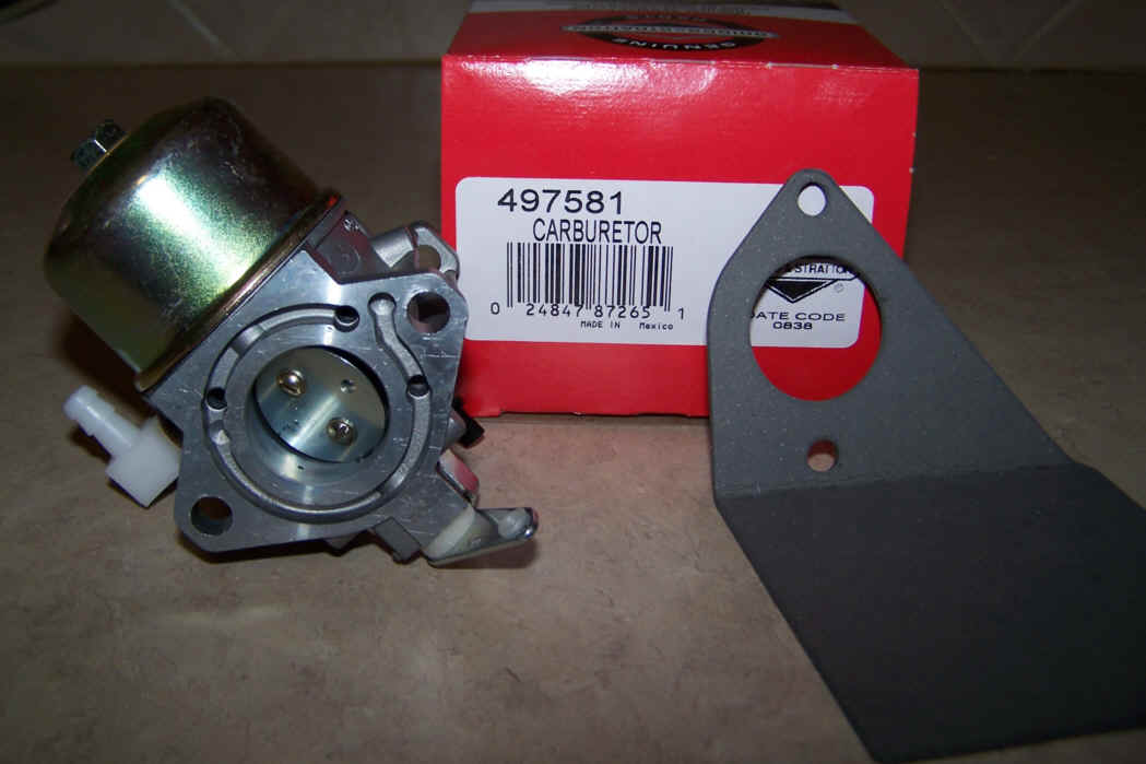Briggs Stratton Carburetor Part No. 497581