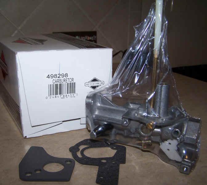 Briggs Stratton Carburetor Part No. 498298