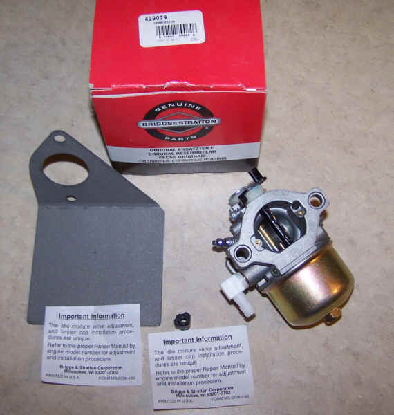 Briggs Stratton Carburetor Part No. 499029