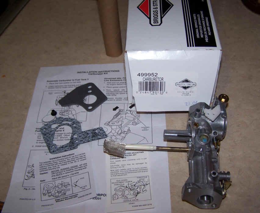 Briggs Stratton Carburetor Part No. 499952