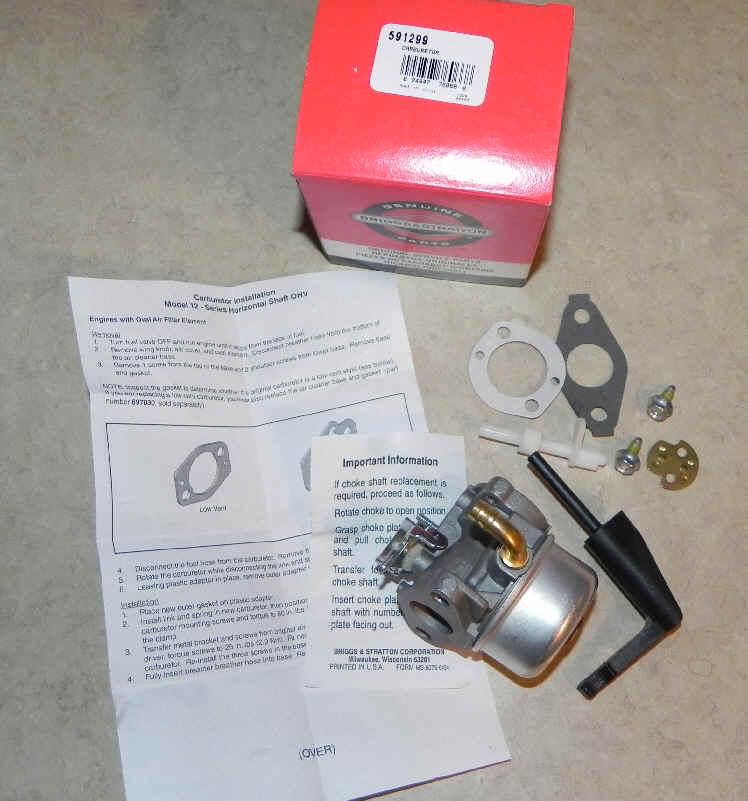 Briggs Stratton Carburetor Part No. 591299 fka 798650