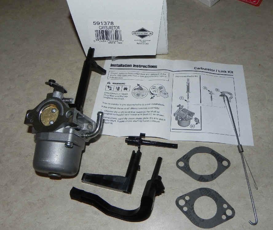 Briggs Stratton Carburetor Part No. 591378
