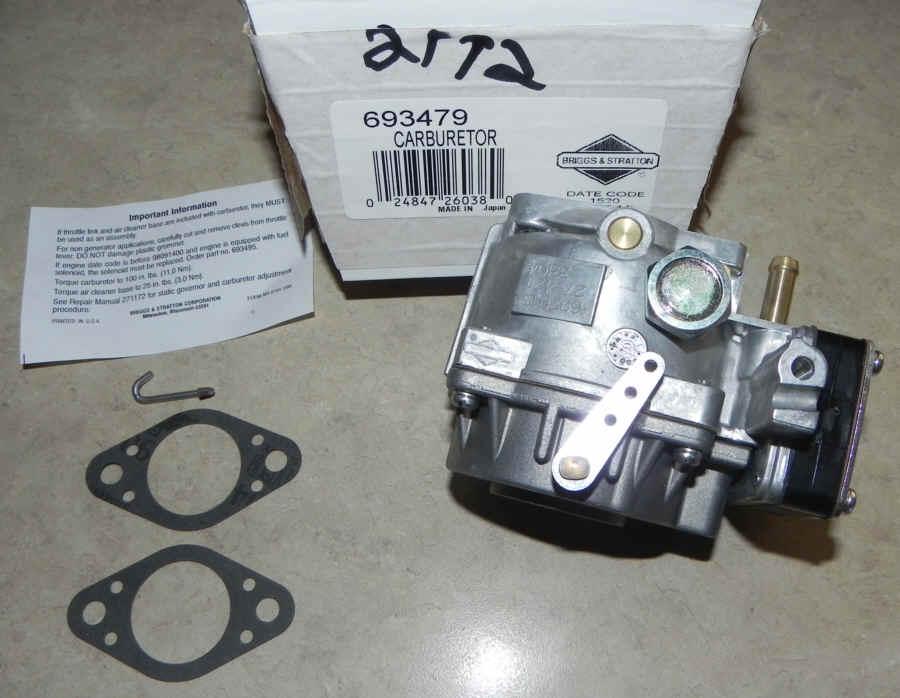 Briggs Stratton Carburetor Part No. 693479
