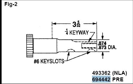 Briggs Stratton Crankshaft Part No. 797018