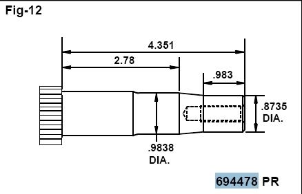 Briggs Stratton Crankshaft Part No. 694478