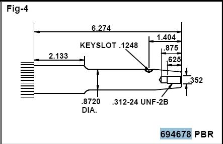 Briggs Stratton Crankshaft Part No. 794718