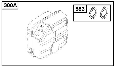 Briggs Stratton Muffler Part No. 715600