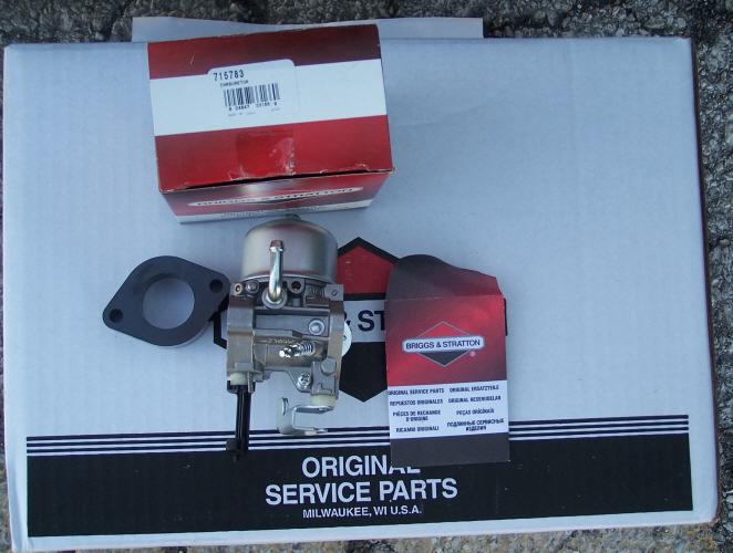 Briggs Stratton Carburetor Part No. 715783