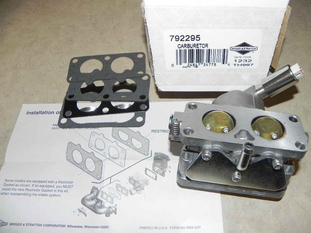 Briggs Stratton Carburetor Part No. 792295