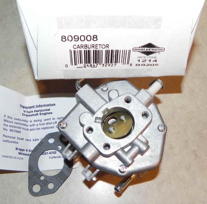Briggs Stratton Carburetor Part No  809008