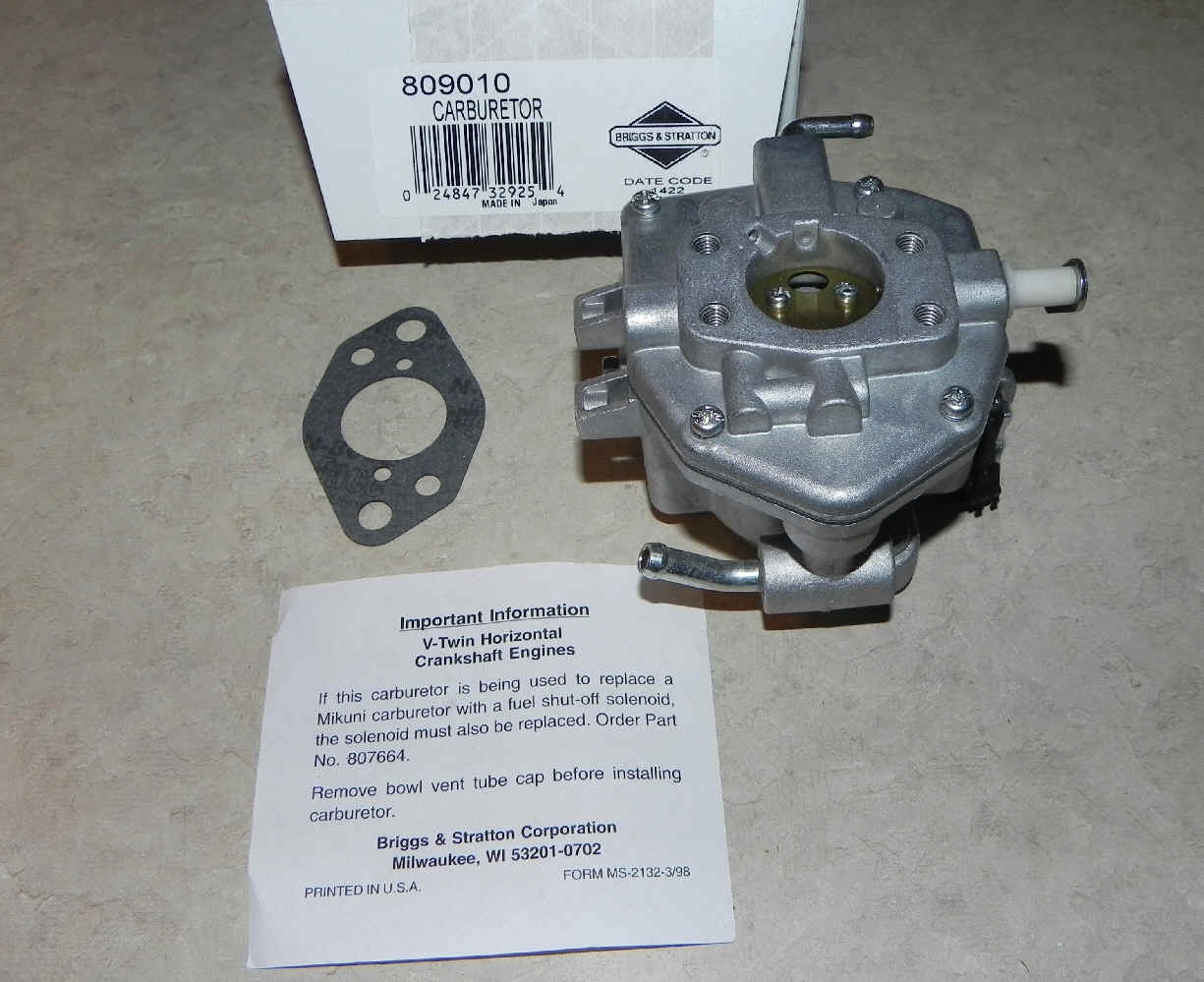 Briggs Stratton Carburetor Part No. 809010