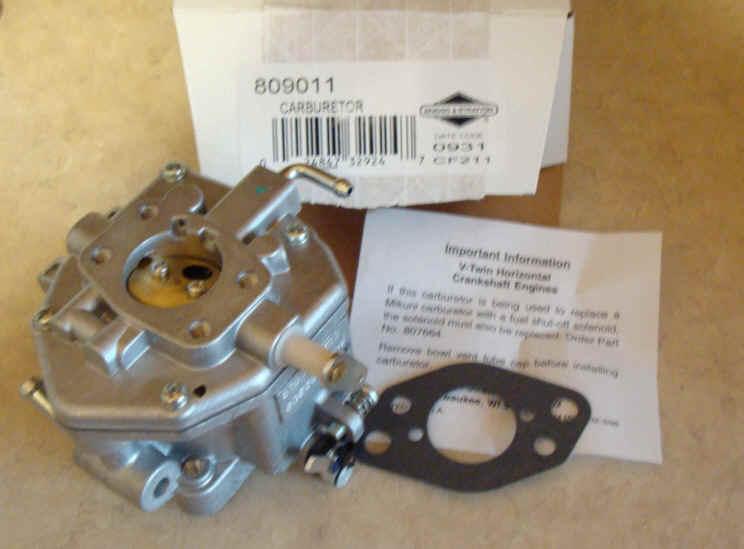 Briggs Stratton Carburetor Part No. 809011