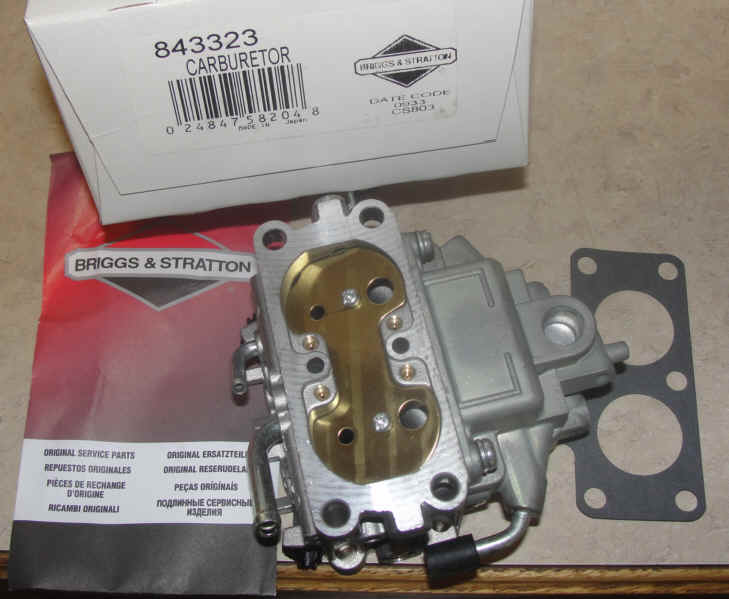 Briggs Stratton Carburetor Part No. 843323 FKA 808278