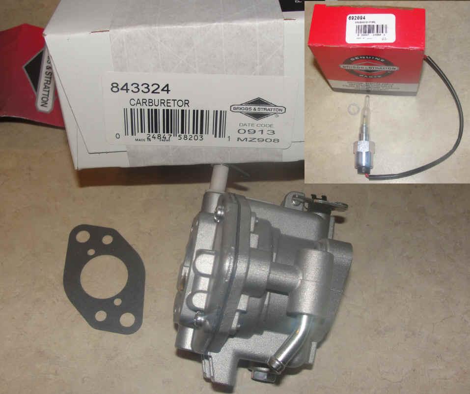 Briggs Stratton Carburetor Part No. 809017 nka 846109 and 692094