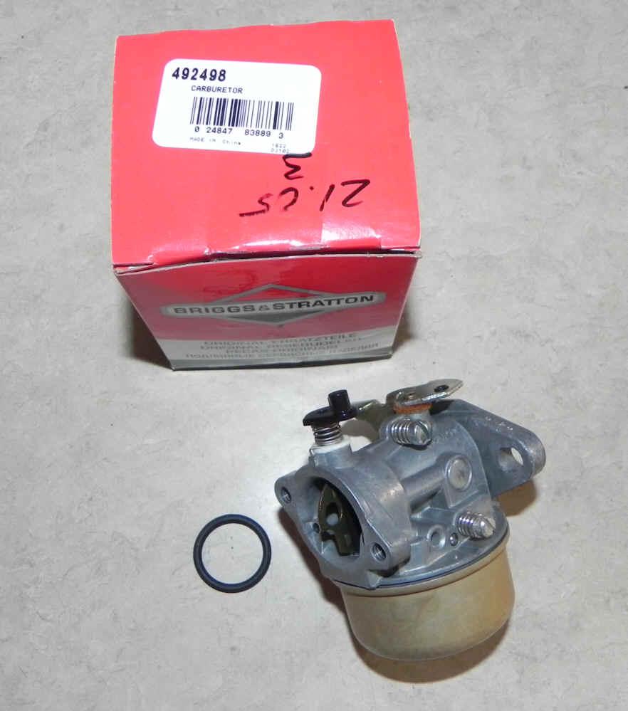 Briggs Stratton Carburetor Part No. 492498