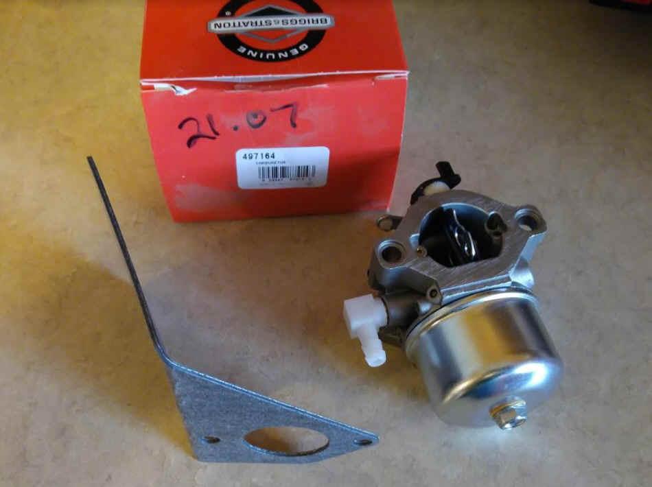 Briggs Stratton Carburetor Part No. 497164