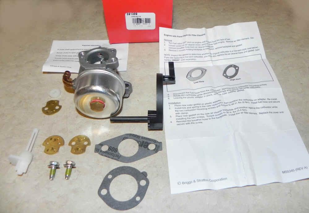 Briggs Stratton Carburetor Part No. 591309