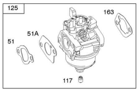 Briggs Stratton Carburetor Part No. 592236