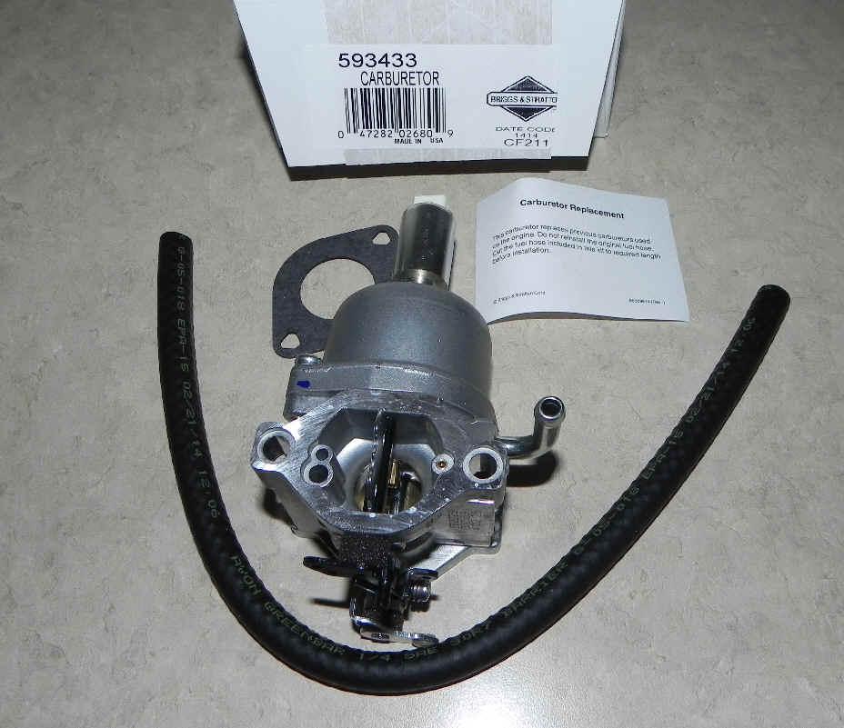 Briggs Stratton Carburetor Part No. 593433 fka 794294