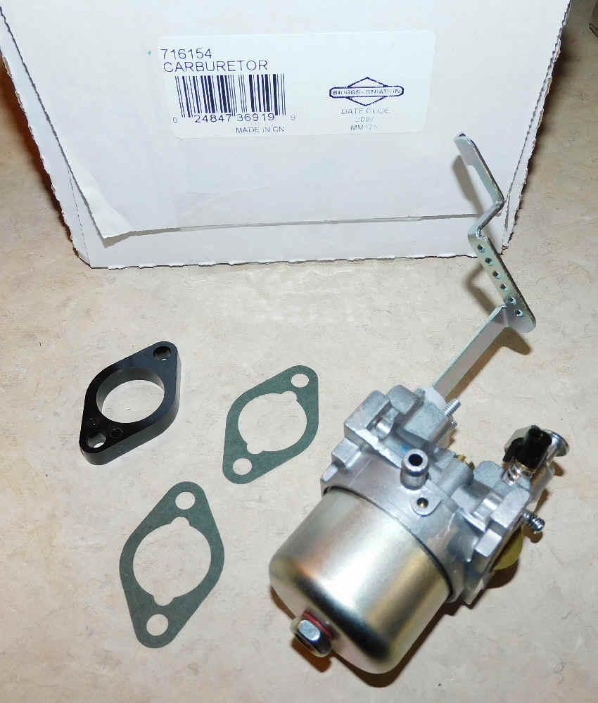 Briggs Stratton Carburetor Part No. 716154