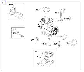 Briggs Stratton Carburetor Part No. 794061