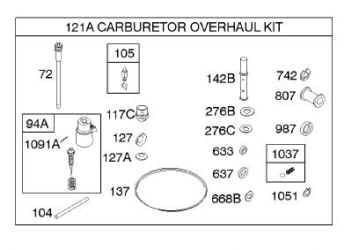 Briggs Stratton Carburetor Overhaul Kit Part No. 842886
