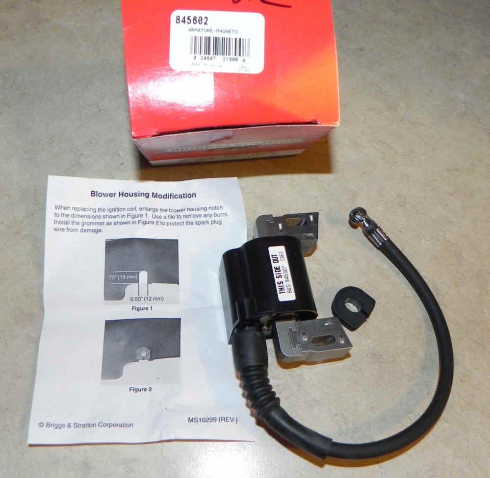 Briggs & Stratton Ignition Coil Part No. 845602