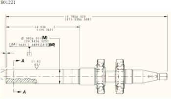 Crankshaft 801221 Dimensions
