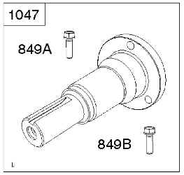 Briggs Stratton Stub Shaft Kit Part No. 841304