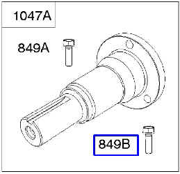 Briggs Stratton Stub Shaft Kit Part No. 843342