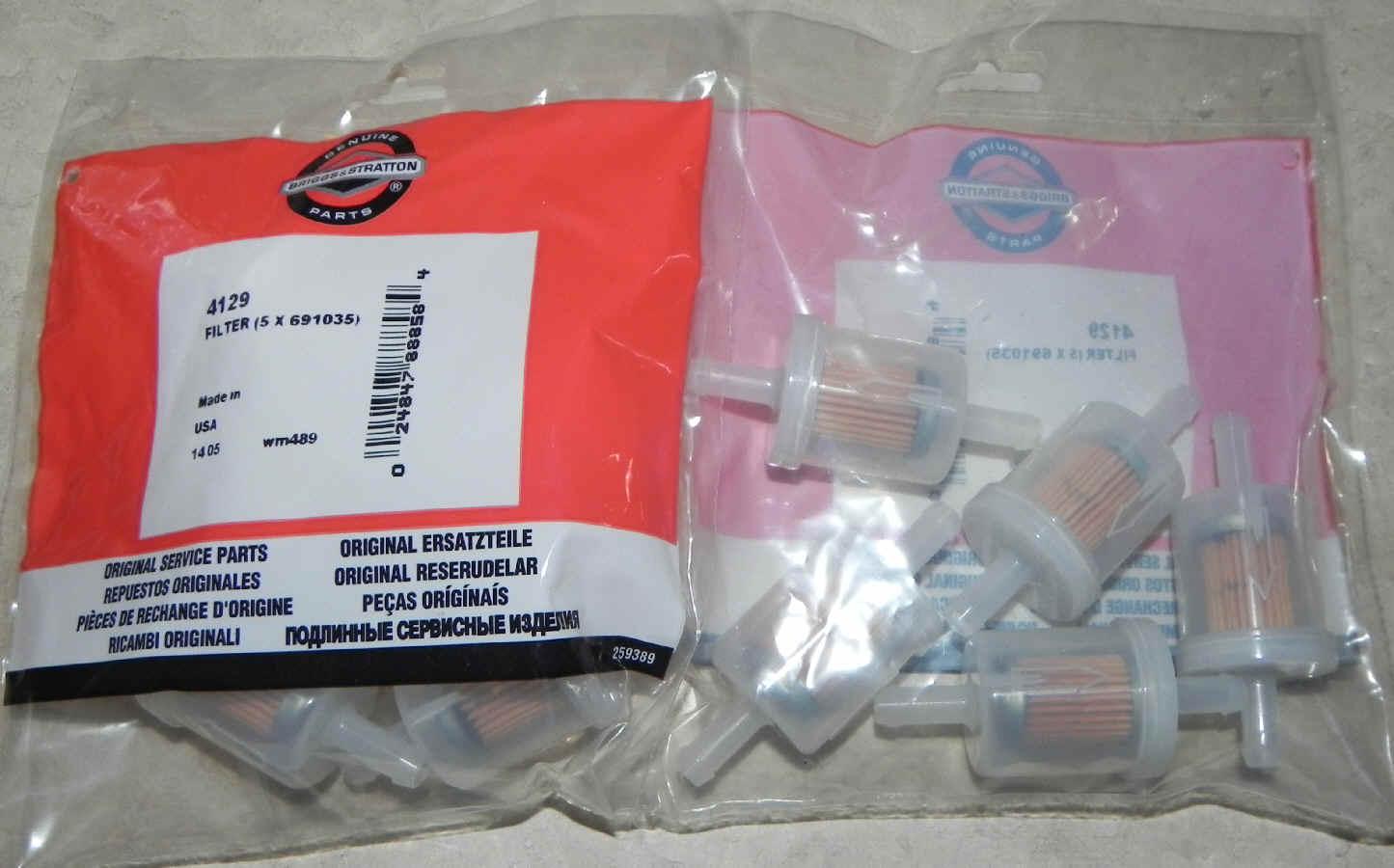 Briggs & Stratton Fuel Filters Part No. 84001895M