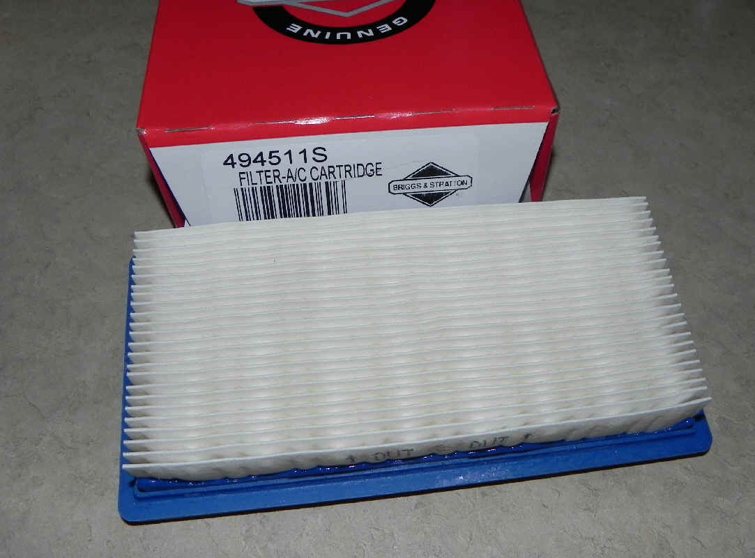 Briggs & Stratton Air Filters Part No. 494511S